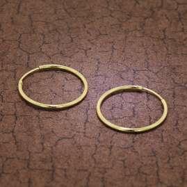 trendor 51166 Creolen Ohrringe Gold 333 / 8K Ø 25 mm