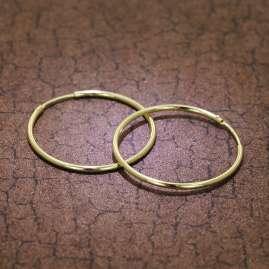 trendor 51167 Hoop Earrings Gold 333 / 8K Ø 32 mm