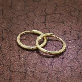 trendor 51168 Hoop Earrings Gold 333 / 8K Ø 15 mm