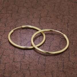 trendor 51170 Hoop Earrings Gold 333 / 8K Ø 30 mm