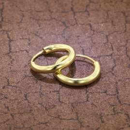 trendor 51172 Creolen Ohringe Gold 333 / 8K Ø 15 mm