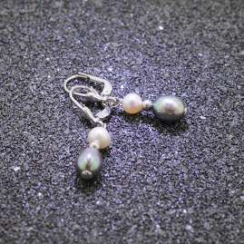 trendor 51341 Earrings 925 Sterling Silver Earrings With Freshwater Pearls