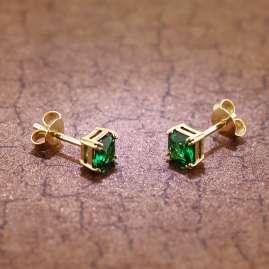 trendor 51680-08 Damen-Ohrringe Gold 333 / 8K Synthetischer Smaragd