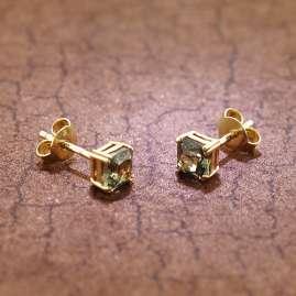 trendor 51680-05 Ohrringe Gold 333 / 8K Ohrstecker Synthetischer Turmalin