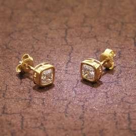 trendor 51684-01 Ladies' Stud Earrings Gold 333 / 8K Cubic Zirconia