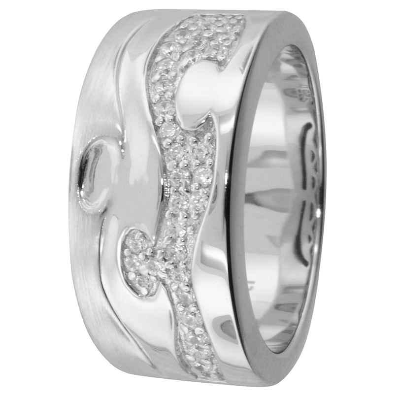 trendor 67360 Silber Ring Arabesk