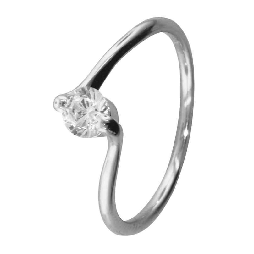 trendor 69067 Ladies Silver Ring with Cubic Zirconia