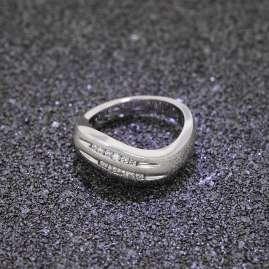trendor 80425 Silber Damen-Ring mit Zirkonias