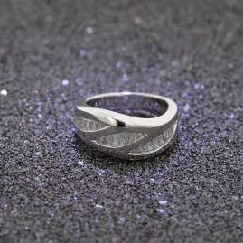 trendor 80524 Silber Damenring mit Zirkonia