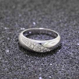 trendor 64475 Silber Zirkonia Ring matt/glanz