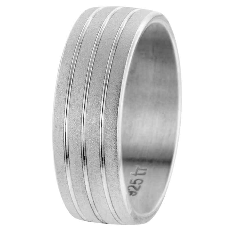 trendor 65571 Freundschaftsring für Damen und Herren Silber 925 Breite 7 mm