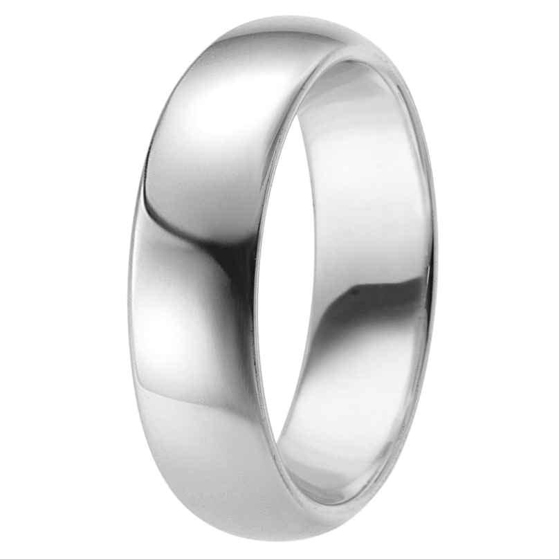 trendor 65731 Silber Freundschaftsring für Damen und Herren Breite 6 mm