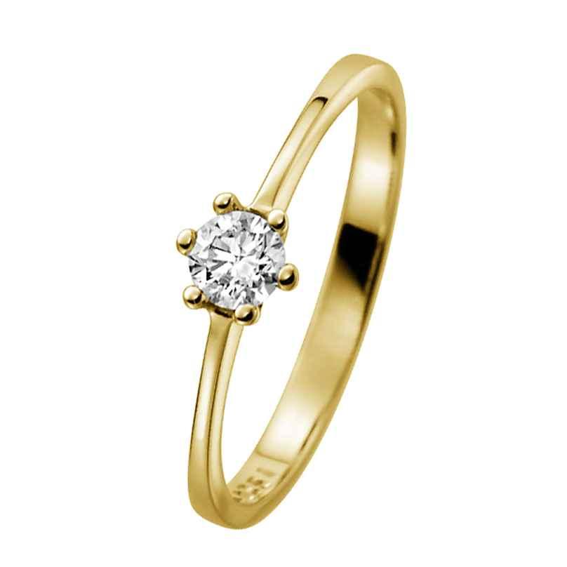 trendor 532473 Verlobungsring 585 Gelbgold mit Diamant 0,20 ct
