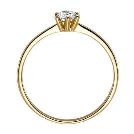 trendor 532463 Damenring aus Gold 585 mit Diamant