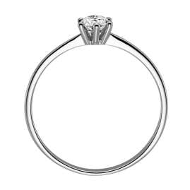 trendor 532449 Diamond Ring 14 Ct White Gold