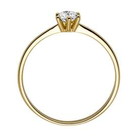 trendor 532476 Solitaire Ring Gold with Diamond
