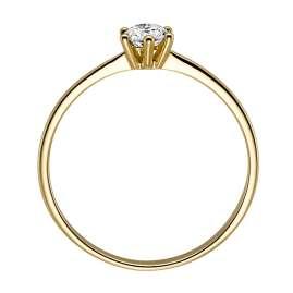 trendor 532470 Damenring 585 Gelbgold Brillant 0,15 ct Verlobung Heiratsantrag