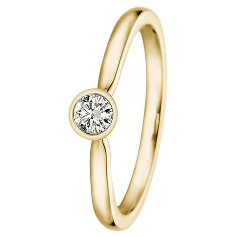 trendor 532494 Damenring Gelbgold mit Diamant