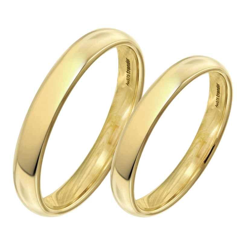 trendor 1001 Eheringe Paar Gold 375 Hochglanz