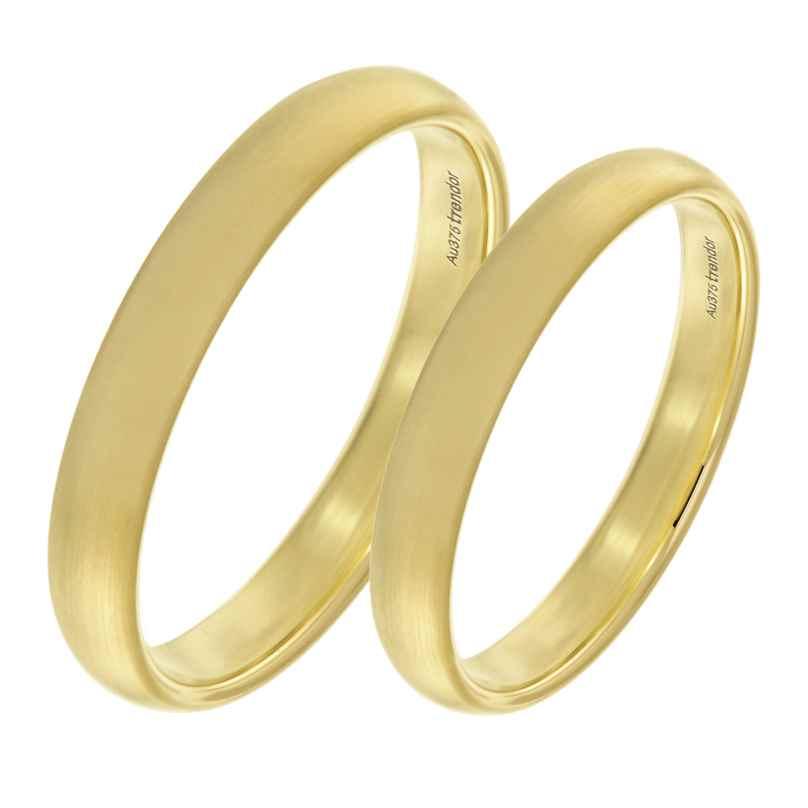 trendor 1002 Eheringe Paar Gold 375 Mattiert