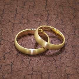 trendor 4002 Eheringe Paar Gold 375 Mattiert