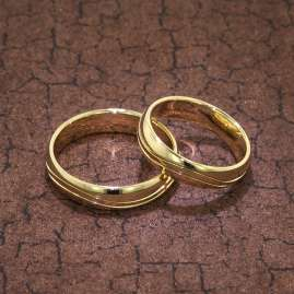 trendor 6001 Eheringe Paar Gold 375 Hochglanzpoliert