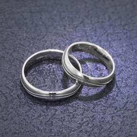 trendor 6003 Eheringe Paar Weißgold 375 Poliert