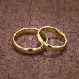 trendor 7001 Eheringe Paar Gold 375 Trauring-Set Diamant