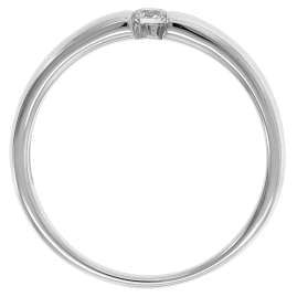 trendor 26977.010WG Damenring mit Brillant Weißgold 585/14 Kt. Diamant 0,10 ct