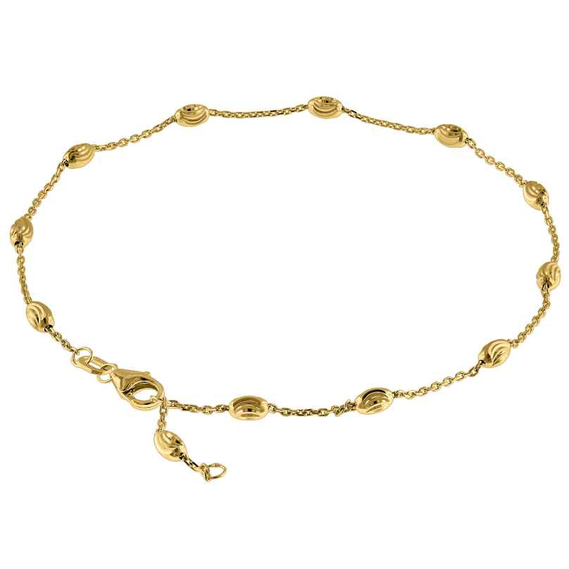 trendor 75295 Anklet Sterling Silver 925 Gold-Plated 4260641752959