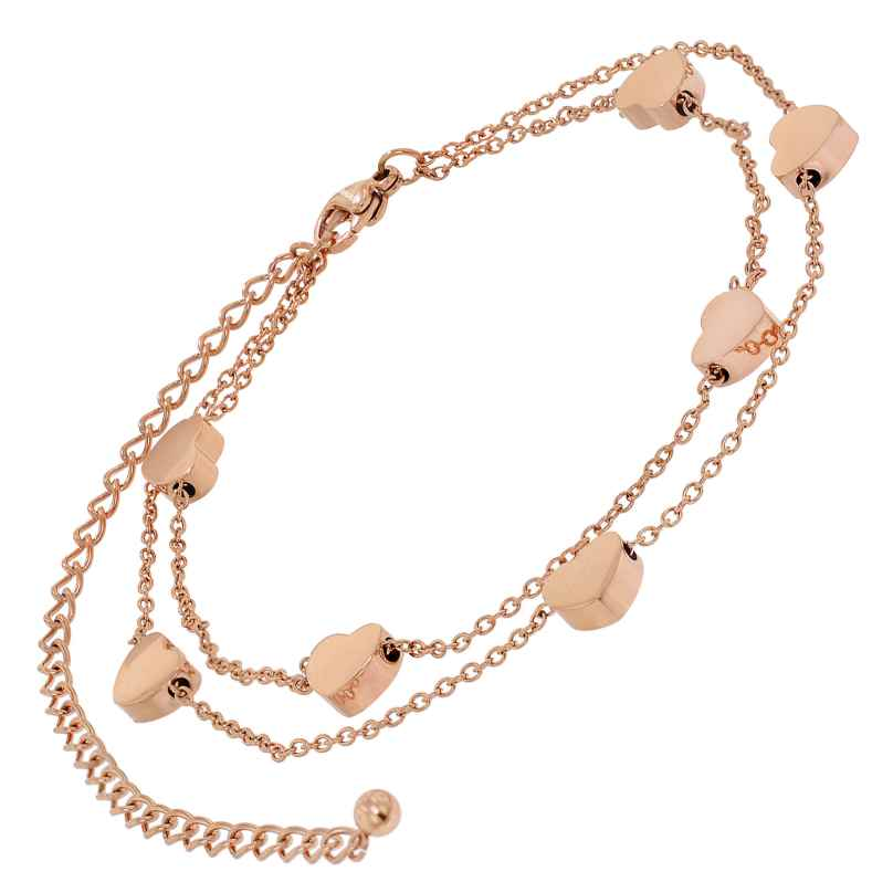 trendor 75896 Anklet Rose Gold Plated Stainless Steel 4260641758968