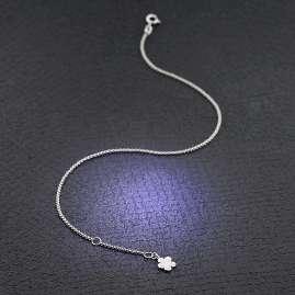 trendor 51339 Anklet 925 Sterling Silver With Flower