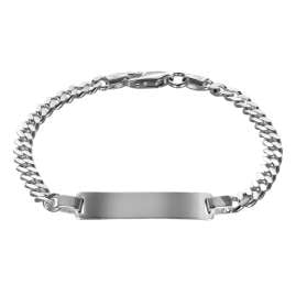 trendor 88612-19 Silver ID Bracelet