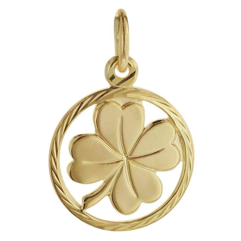 trendor 08622 Kleeblatt Glücksanhänger 585 Gold 12 mm 4260497086222