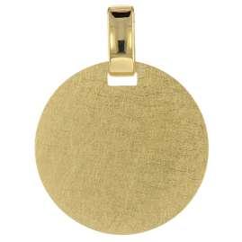 trendor 75115 Engraving Plate Pendant 333 Gold Ø 18 mm