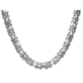 trendor 08647 Necklace Men's 925 Silver Byzantine 60 cm long 7.1 mm wide