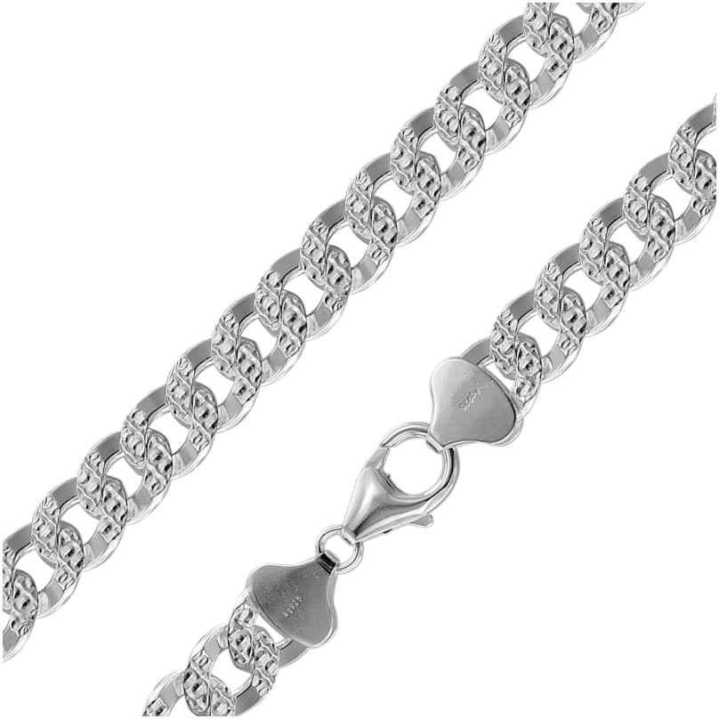 trendor 08795 Halskette für Männer 925 Silber Panzerkette Breite 9,7 mm 4260497087953