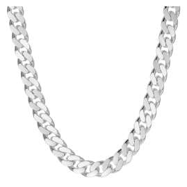 trendor 75141 Men's Necklace Sterling Silver 925 Curb Chain 5 mm Wide