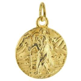 trendor 75227 Necklace St. Christopher 925 Sterling Silver Gold-Plated