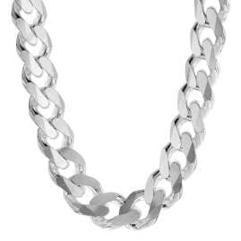 trendor 75234 Men's Necklace Silver 925 Curb Chain Width 10.8 mm