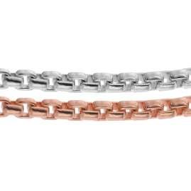 trendor 75294 Halskette für Frauen Silber 925 Bicolor Venezianer 2-Reihig