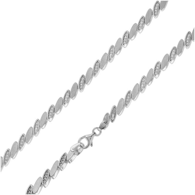 trendor 75586 Halskette für Damen Silber 925 Collier mit Zirkonias 4260641755868