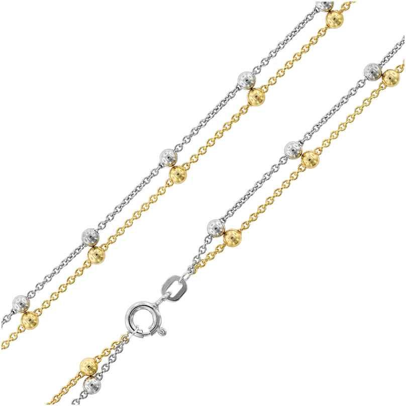 trendor 75665 Damen-Halskette Silber 925 Kette Zweireihig Bicolo 4260641756650