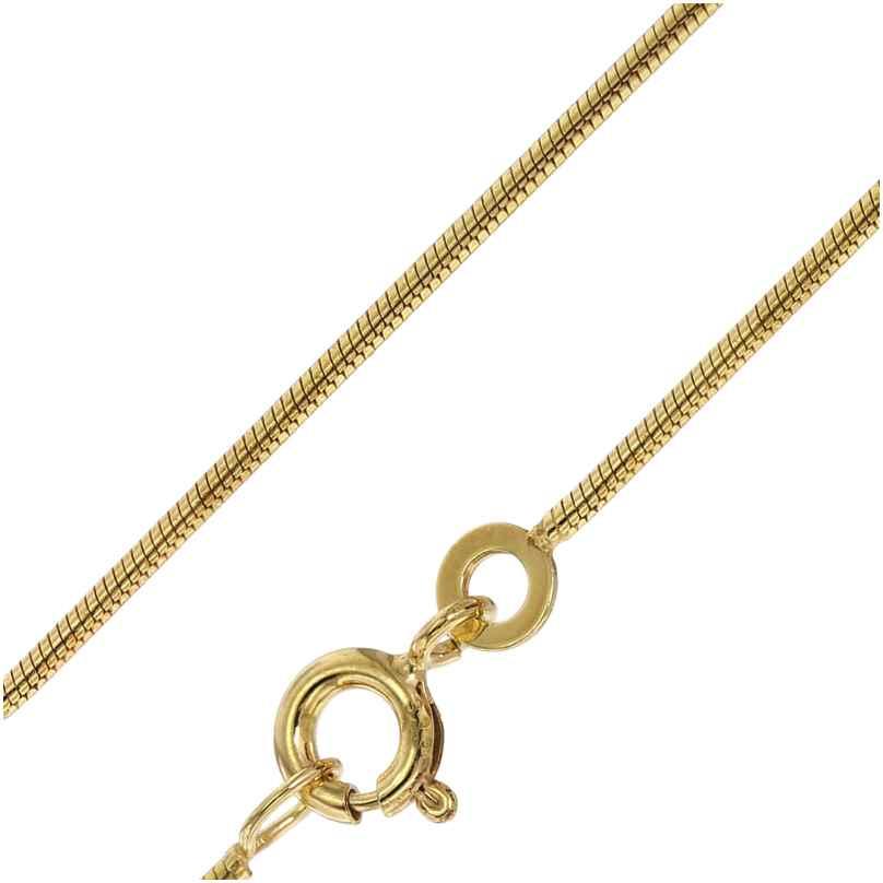 trendor 72122 Halskette 333 Gold Schlangenkette 1,3 mm