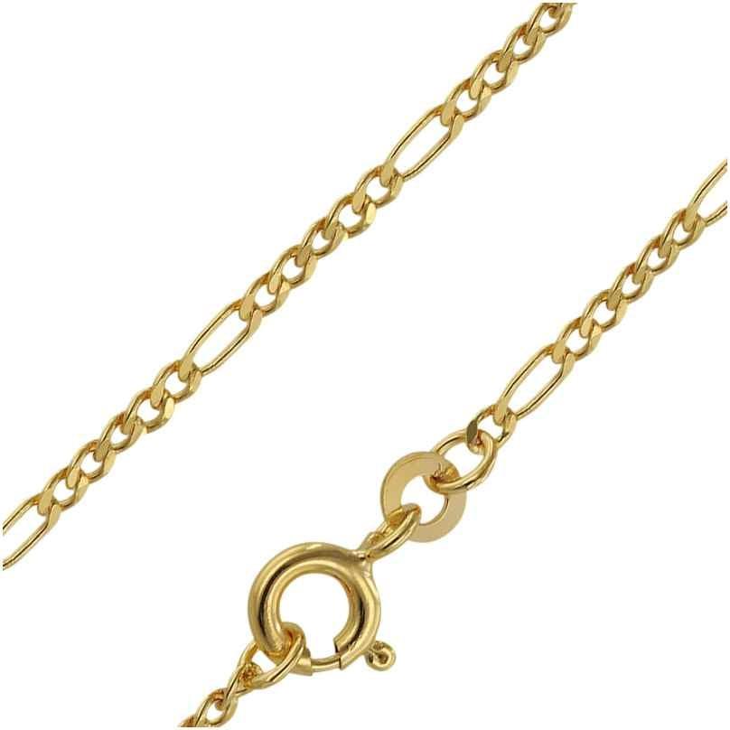 trendor 71811 Halskette 333 Gold Figaro Diamantiert für Damen und Herren