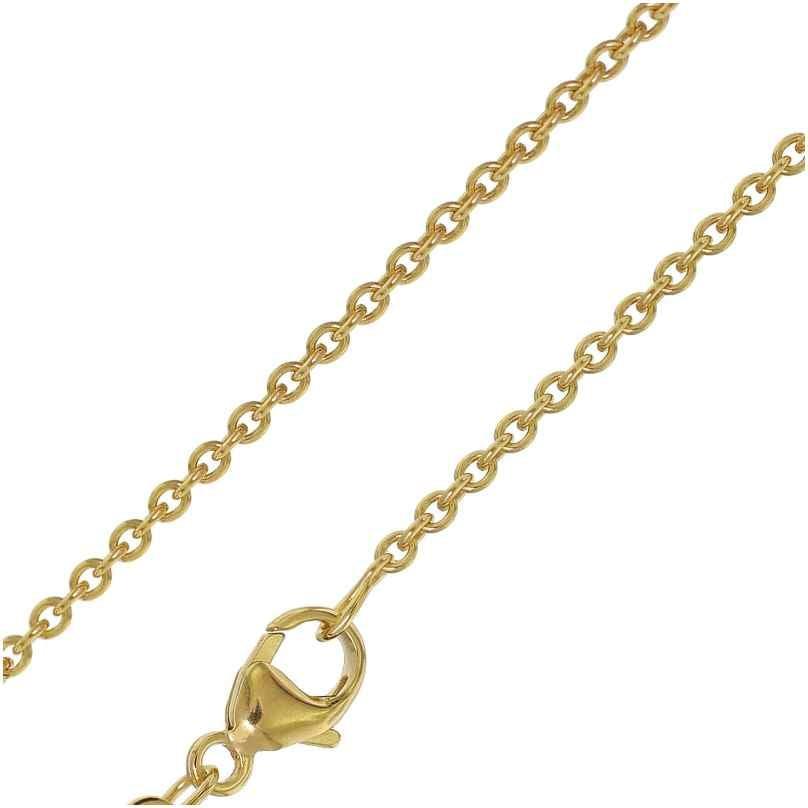 trendor 35904 Halskette für Damen 333 Gold Rundanker 1,5 mm Länge 45/42 cm 4260435359043