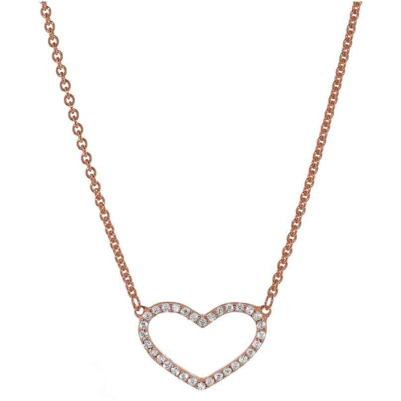 trendor 35960 Damen Silber-Halskette mit Zirkonia-Herz 4260435359609