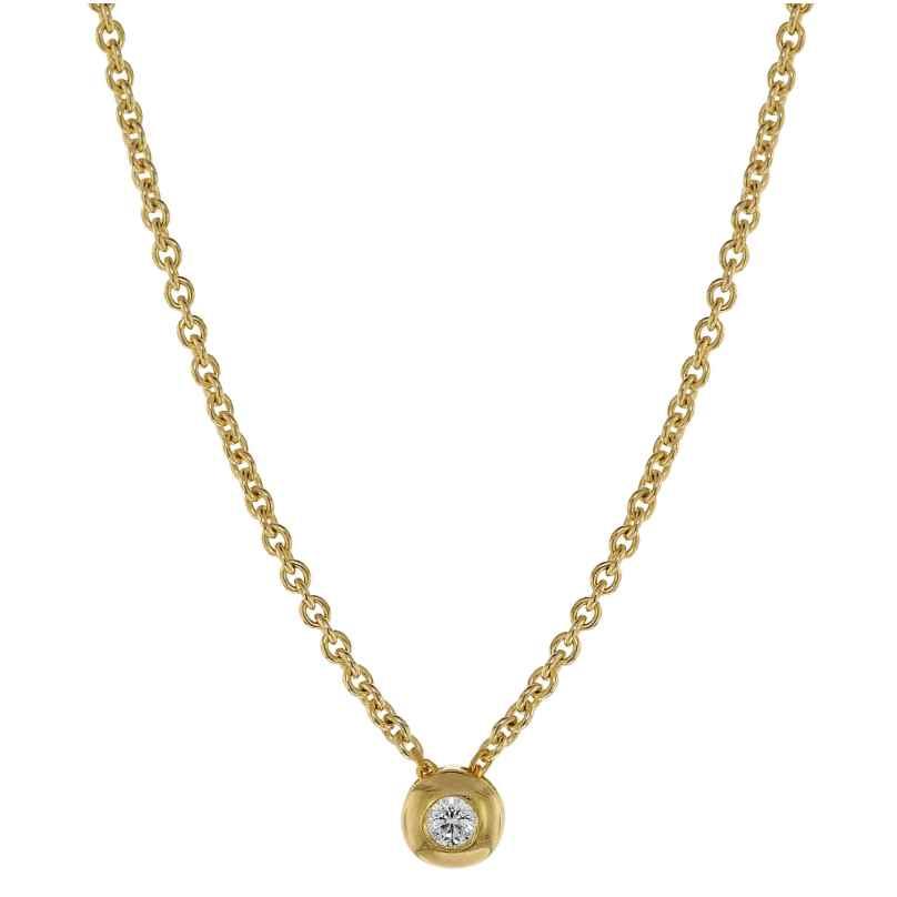 trendor 75202 Diamant-Halskette 0,05 ct WP Gold 585 4260641752027