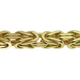 trendor 75310 Byzantine Chain Necklace Gold 333 (8 Carat) Width 2.3 mm