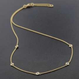 trendor 75299 Necklace with Cubic Zirconias Gold 375 (9 Carat)